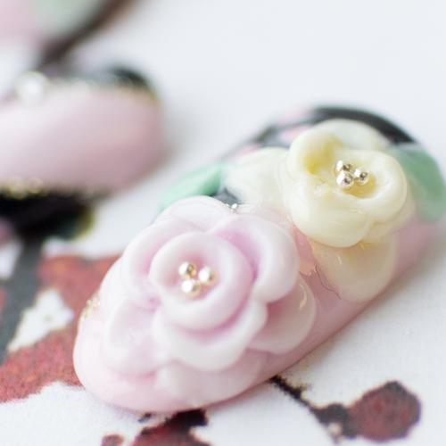 成人式ネイル お花